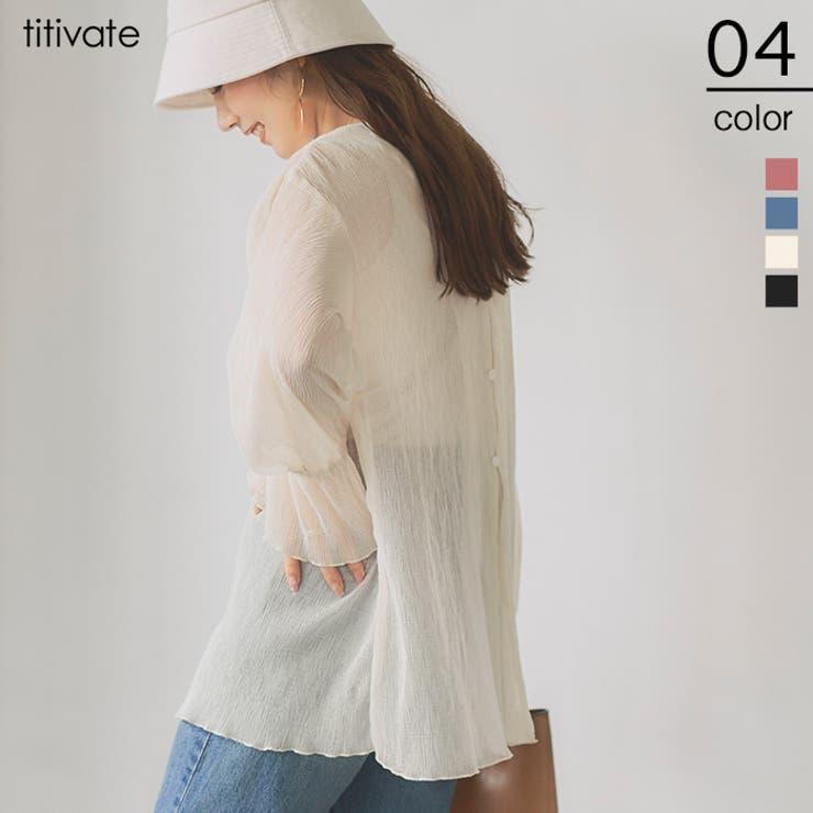 楊柳シアーバックシャンブラウス こなれ感のあるスタイリングを叶える トップス | titivate | 詳細画像1