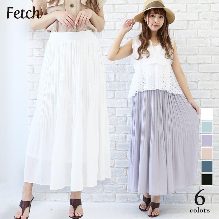 消しプリーツ 85 丈ロングスカート | Fetch | 詳細画像1