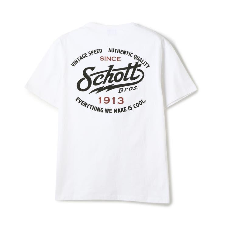 OVER LOGO T-SHIRT/オーバーロゴTシャツ | Schott | 詳細画像1