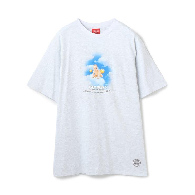 Paragraph/パラグラフ/ベイビープリント半袖Tシャツ/Baby Tee | L.H.P | 詳細画像1