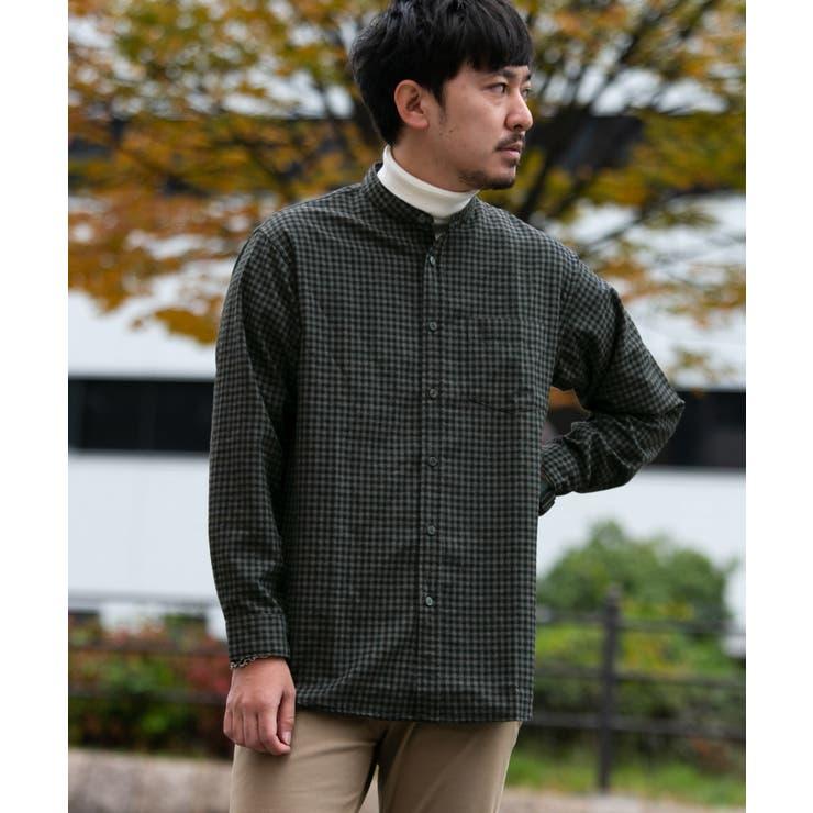 TR起毛バンドカラーシャツ | URBAN RESEARCH OUTLET  | 詳細画像1
