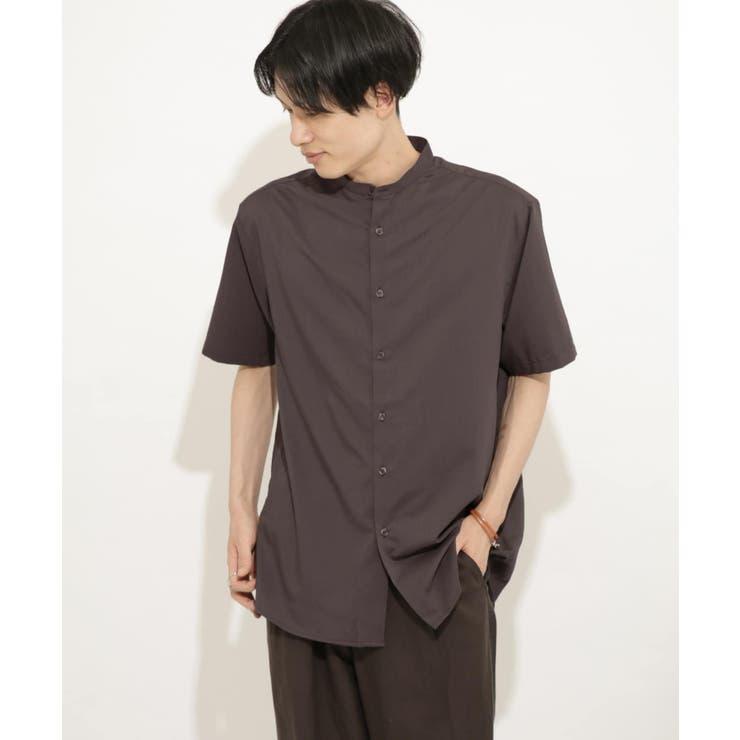 バンドカラーシャツ(5分袖)   SENSE OF PLACE   詳細画像1