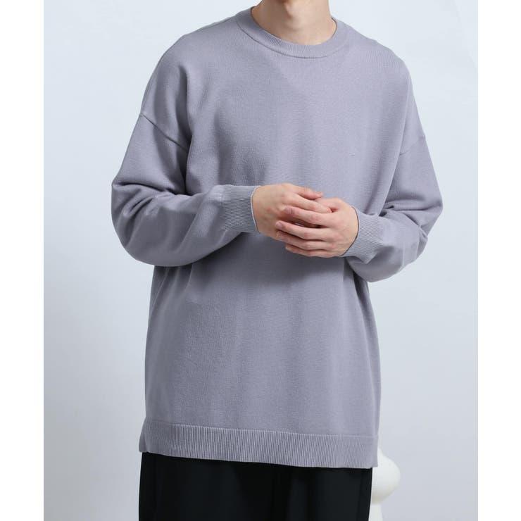 【WEB/一部店舗限定】ストレッチクルーネックセーター   SENSE OF PLACE   詳細画像1