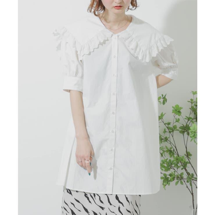 【WEB/一部店舗限定】ビックカラーチュニックシャツ   SENSE OF PLACE    詳細画像1
