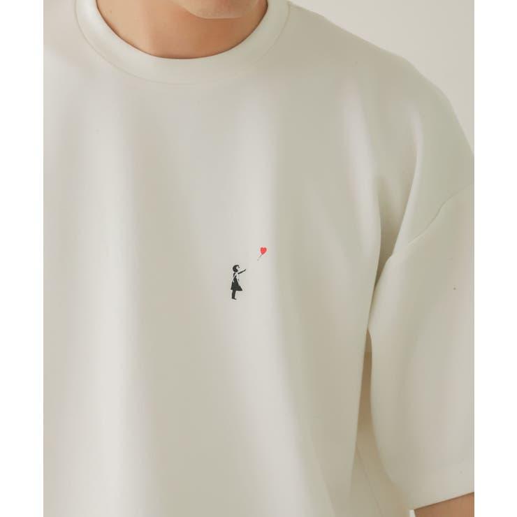 【別注】バンクシーグラフィックアートTシャツ A | SENSE OF PLACE | 詳細画像1