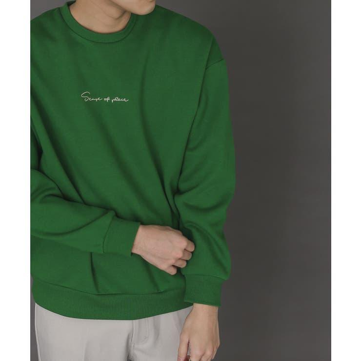 【XLサイズWEB/一部店舗限定】シシュウウラキモウカラースウェットシャツ | SENSE OF PLACE | 詳細画像1