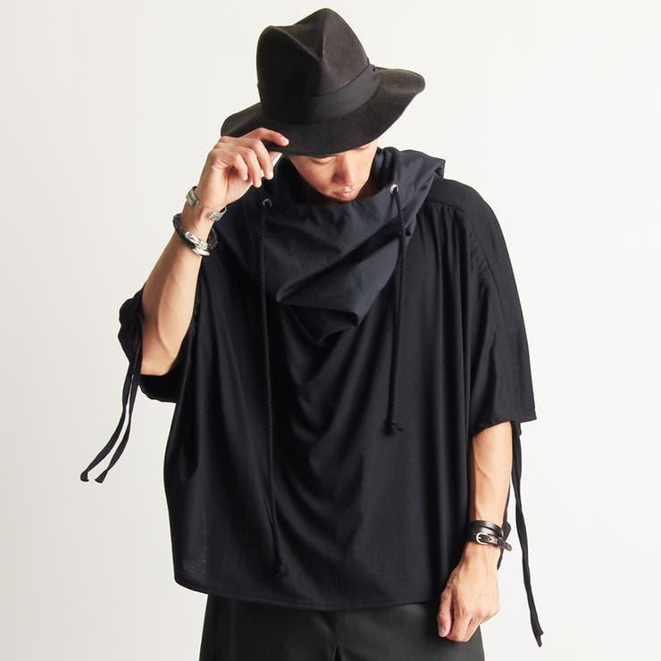 2color ボリュームネックフード裾ジップレイヤードロングTシャツパーカー | Valletta | 詳細画像1