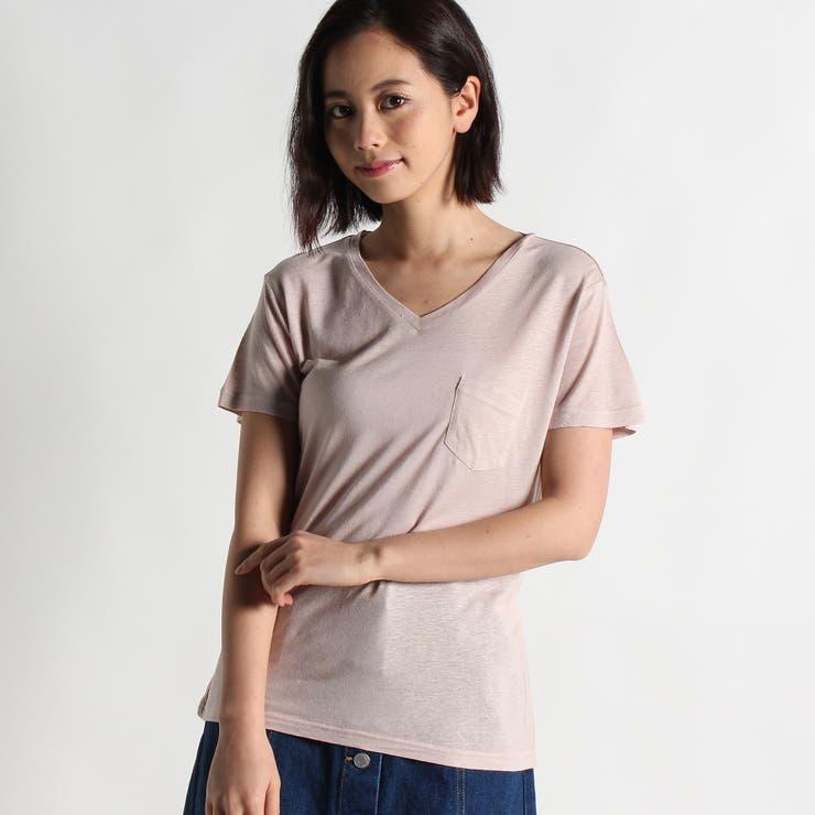 リネンモダールVネックTシャツ BS16SM04-L006   WEGO【WOMEN】   詳細画像1