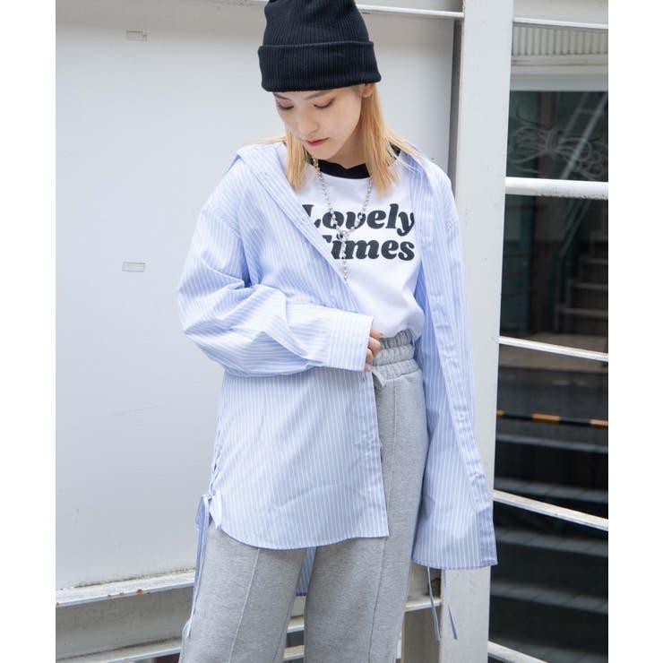 【低身長向け】サイドリボンルーズシャツ | WEGO【WOMEN】 | 詳細画像1
