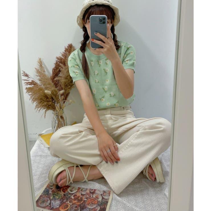 花柄ジャガードサマーニット | WEGO【WOMEN】 | 詳細画像1