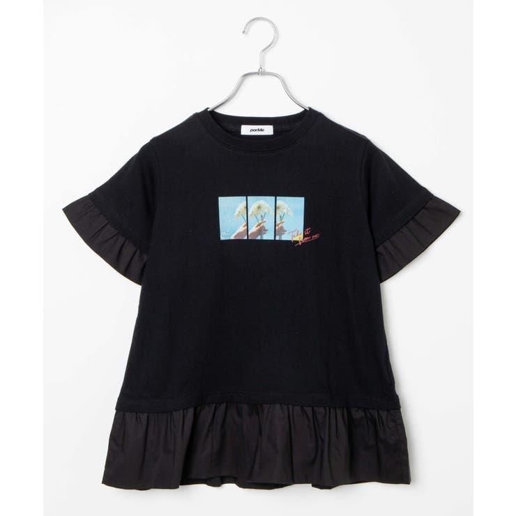 【porMe】/ポルミー レイヤードフォトTシャツ | WEGO【WOMEN】 | 詳細画像1