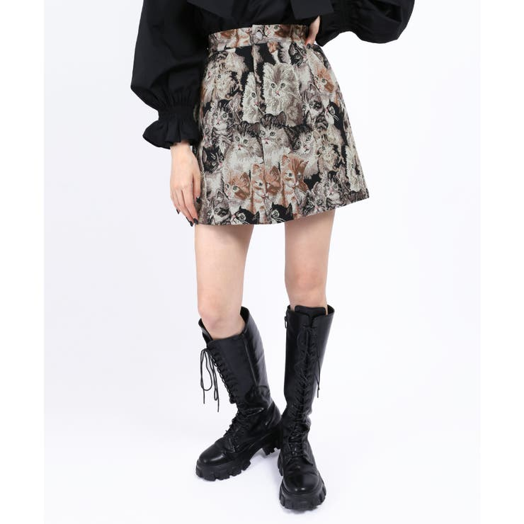 【WC】アニマルゴブランスカート | WEGO【WOMEN】 | 詳細画像1