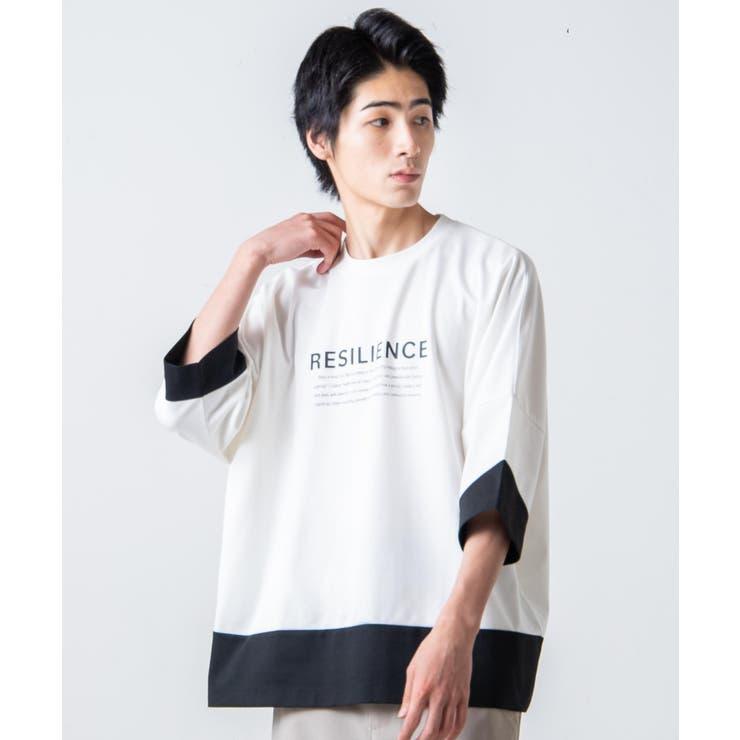 カラーブロックドルマンT【5分袖】   WEGO【MEN】   詳細画像1