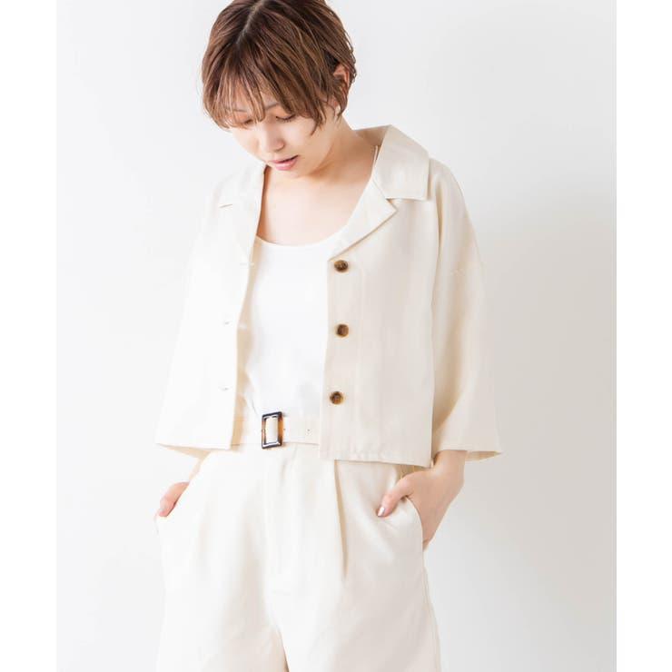 リネンライクシャツジャケット   WEGO【WOMEN】   詳細画像1