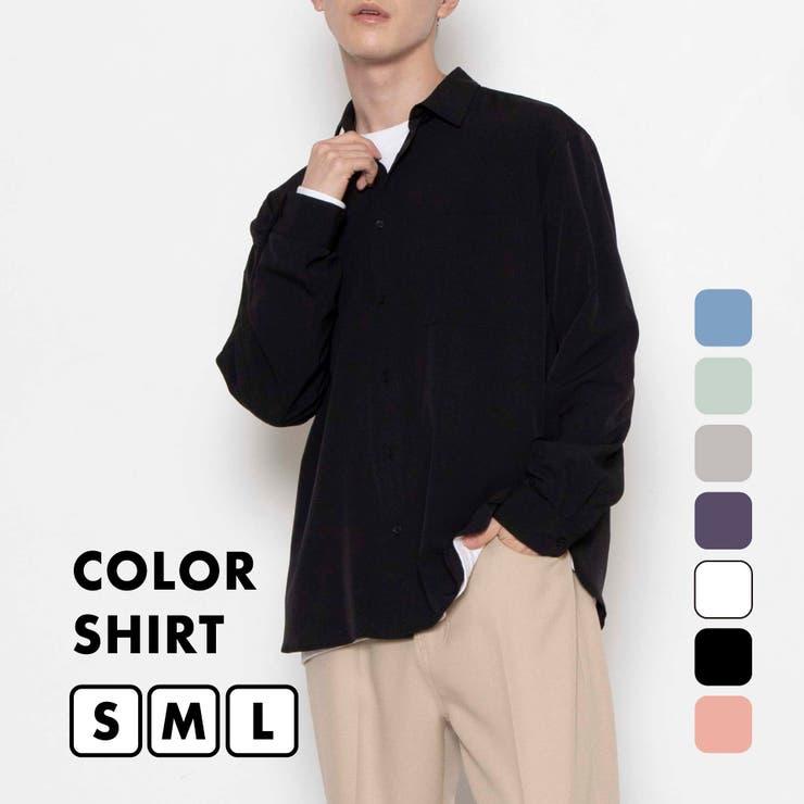 【WEGO2021秋冬】【WEB限定】ドロップショルダーカラーシャツ   WEGO【MEN】   詳細画像1
