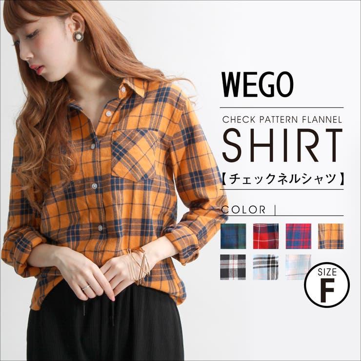 WEGO/チェックネルシャツ