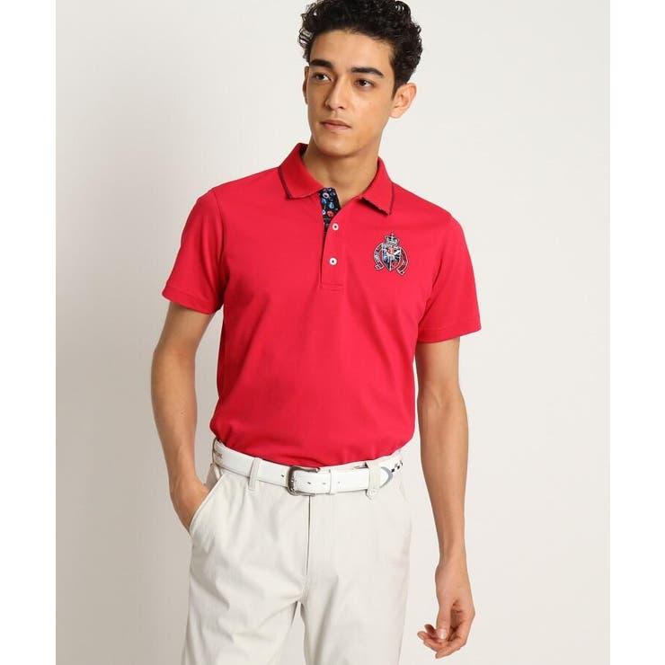 【吸水速乾/UVカット】adabatミラノリブ 襟裏デザイン半袖ポロシャツ | adabatmen | 詳細画像1