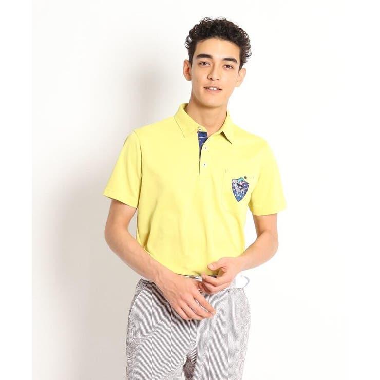 ◆【6カラー展開/遮熱効果/吸水速乾/UVカット】襟裏デザイン半袖ポロシャツ | adabatmen | 詳細画像1