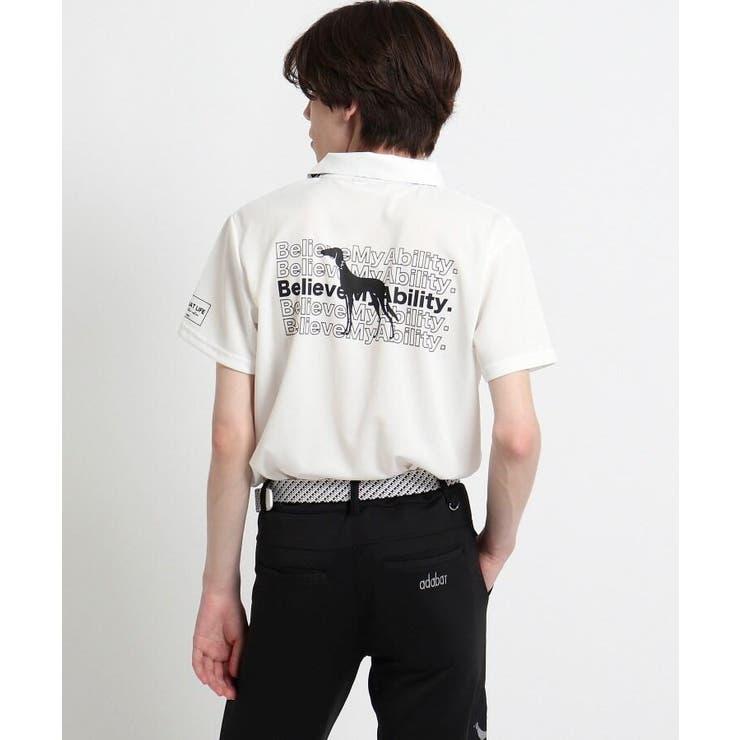 【サルーキバックプリント】 半袖ポロシャツ | adabatmen | 詳細画像1