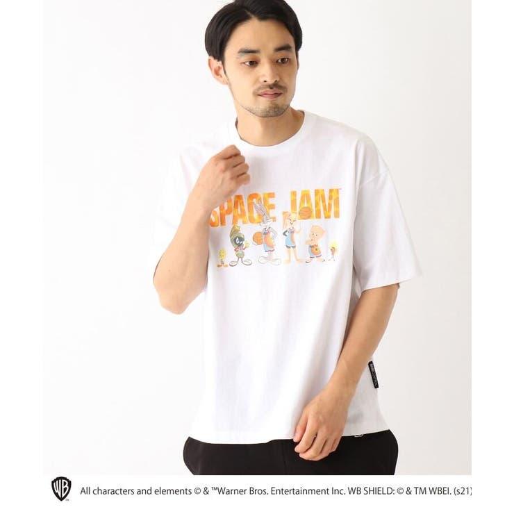 スペースジャム/ 新作映画グラフィック 別注コットン半袖Tシャツ   BASE STATION   詳細画像1
