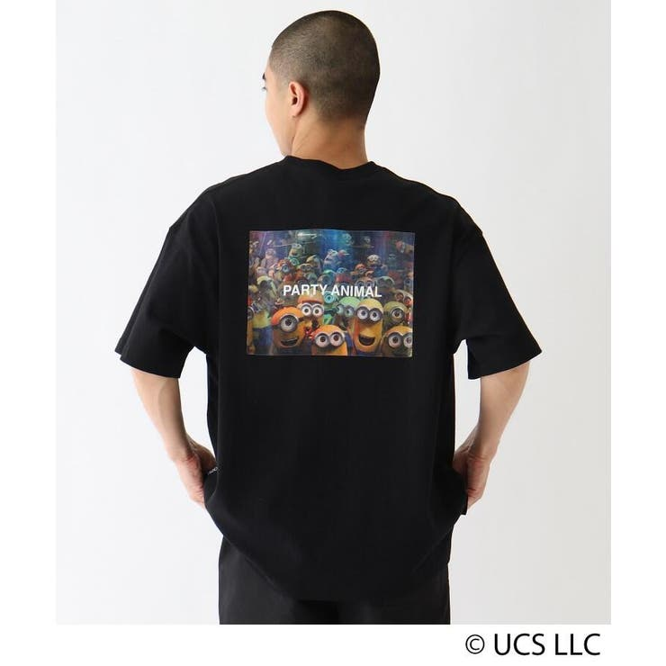 MINION ミニオン / バックプリント  コットン半袖Tシャツ | BASE STATION | 詳細画像1