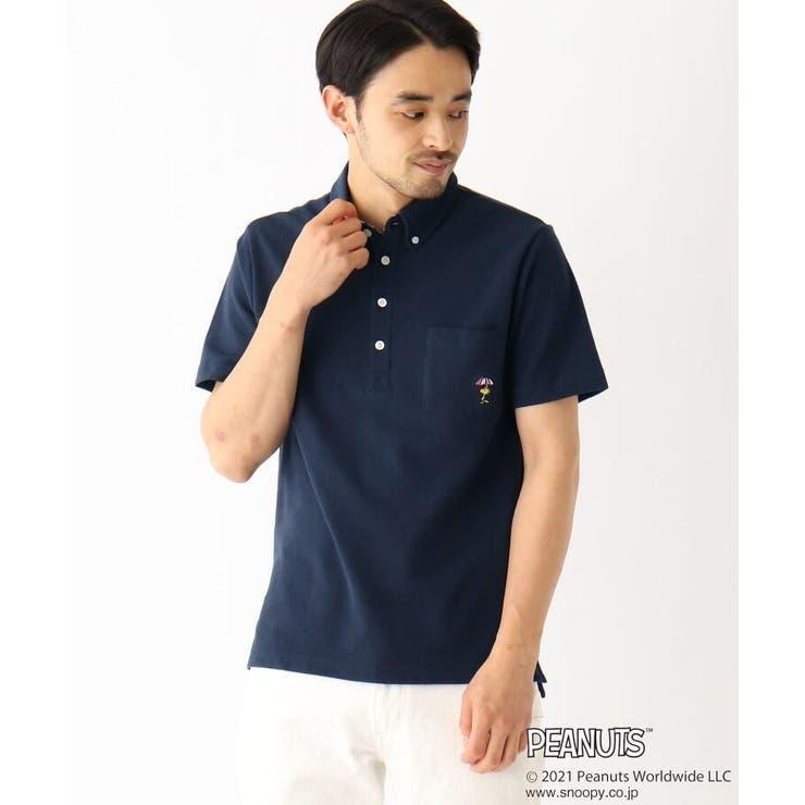 PEANUTS/ピーナッツ ウッドストック刺繍 カノコボタンダウンポロシャツ | BASE STATION | 詳細画像1