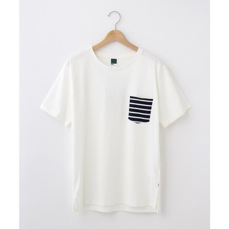【WEB限定】ポケット ボーダー 半袖Tシャツ   BASE STATION   詳細画像1