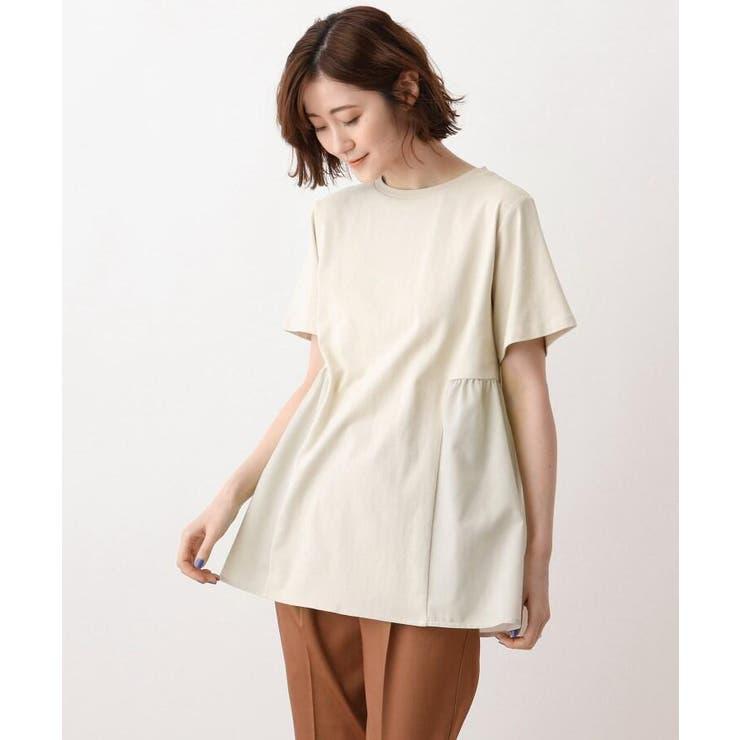 布帛切り替えTシャツ | SHOO・LA・RUE | 詳細画像1