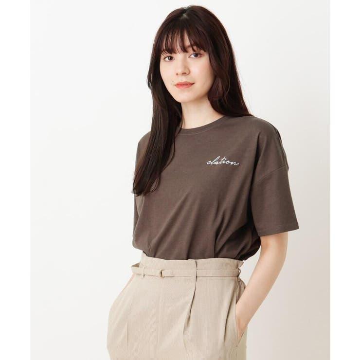 フロント刺繍ロゴTシャツ   SHOO・LA・RUE   詳細画像1