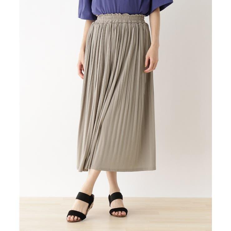 スムース消しプリーツスカート | SHOO・LA・RUE | 詳細画像1