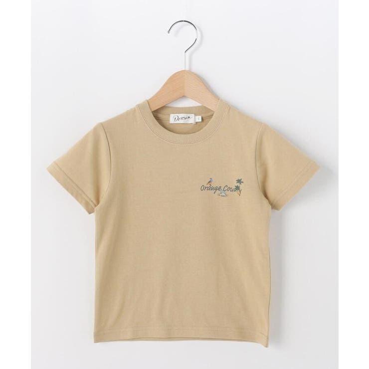 【100-140cm】オレンジカウンティロゴ天竺Tシャツ | Dessin | 詳細画像1