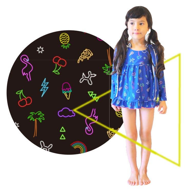Fabhug(ファブハグ)キッズこどもスイムウェアワンピース△NEON△(120/130cm)水着女の子女児--ユアーズアーミーワールド-- | 詳細画像
