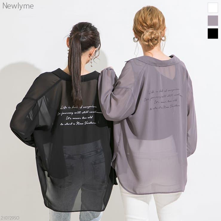 バックメッセージプリントシアーシャツ 韓国 オルチャン 夢展望 | 夢展望 | 詳細画像1