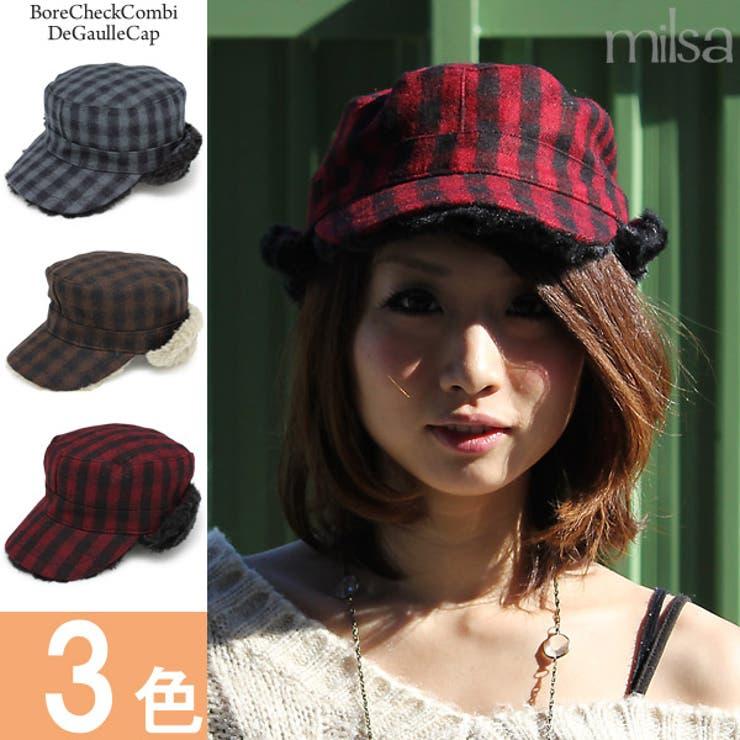 帽子 耳あて付 キャップ | 帽子屋Zaction -帽子&ヘアバンド-  | 詳細画像1