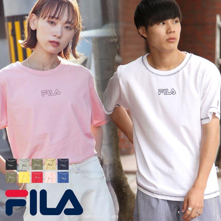 Tシャツ/メンズ/メンズファッション/ステッチ/ロゴ/刺繍/ボックスロゴ/ルーズTシャツ/FILA/フィラ【fh7719】 | 詳細画像
