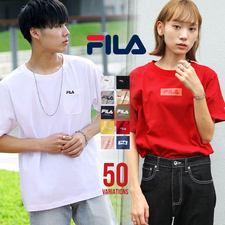 Tシャツ/メンズ/メンズファッション/カットソー/半袖/Tee/刺繍/プリント/ロゴ/FILA/フィラ【fh7t】 | 詳細画像
