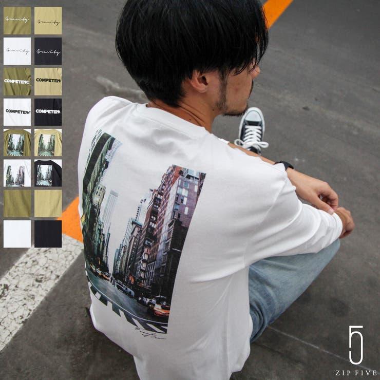 Tシャツ/メンズ/メンズファッション/カットソー/長袖/クルーネック/プリント/ロゴ/無地/ロンT【19020-31nz】 | 詳細画像