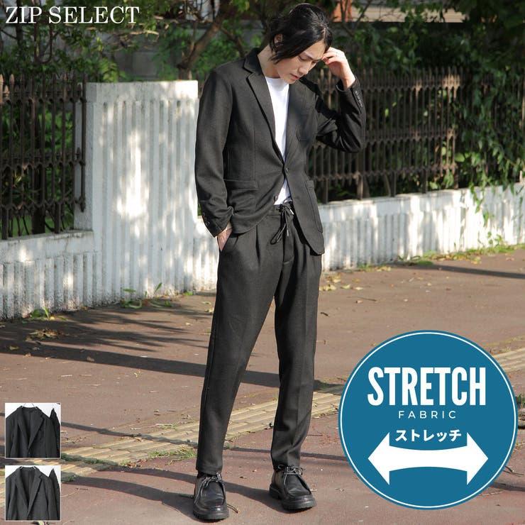セットアップ/メンズ/メンズファッション/スラックス/テーラードジャケット/スーツ/ストレッチ/アンクルカット【kd-setup005】 | 詳細画像