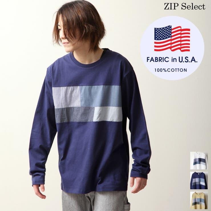 Tシャツ/メンズ/メンズファッション/ロンT/カットソー/長袖Tシャツ/USAコットン/切替【h21-012-11t】   詳細画像