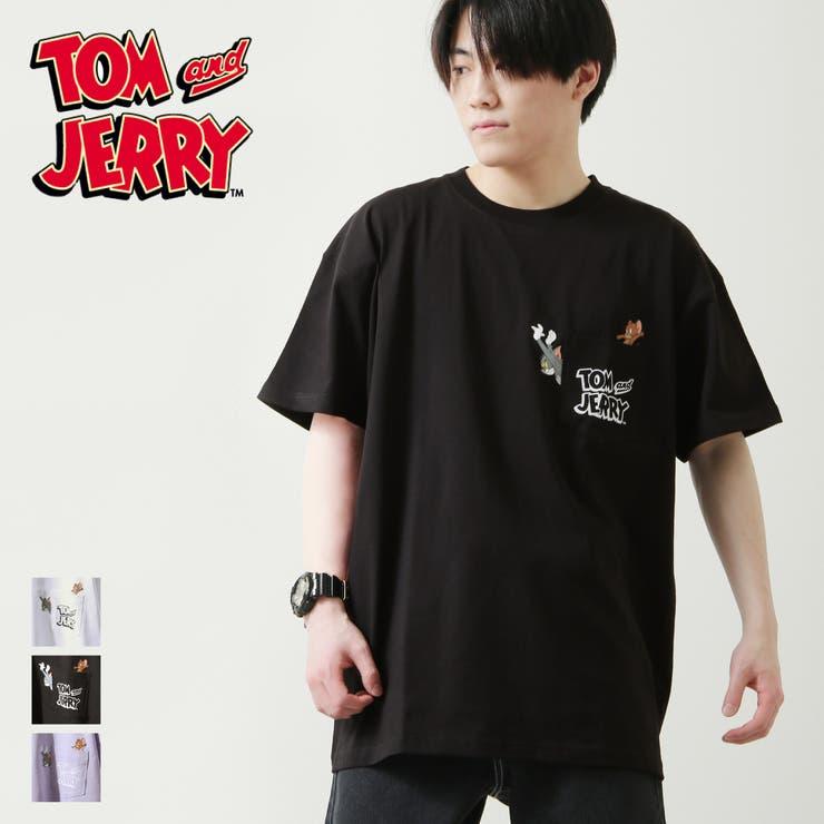 Tシャツ/メンズ/メンズファッション/半袖/半袖Tシャツ/プリントTシャツ/ポケット/イラスト/トム&ジェリー/【13351502】 | 詳細画像