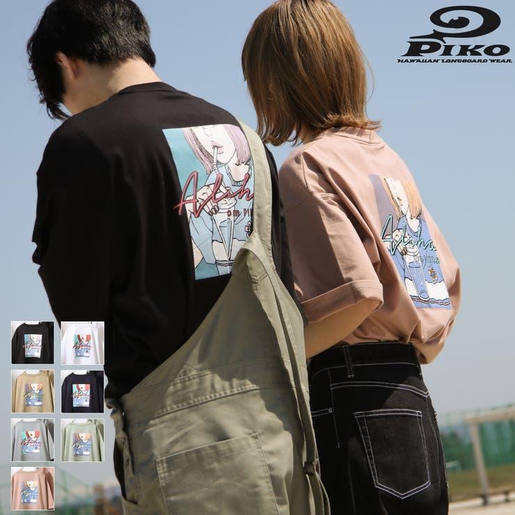 Tシャツ/メンズ/メンズファッション/バックイラスト/ビッグシルエット/ロゴ/くすみカラー/別注【pkm1436】 | 詳細画像