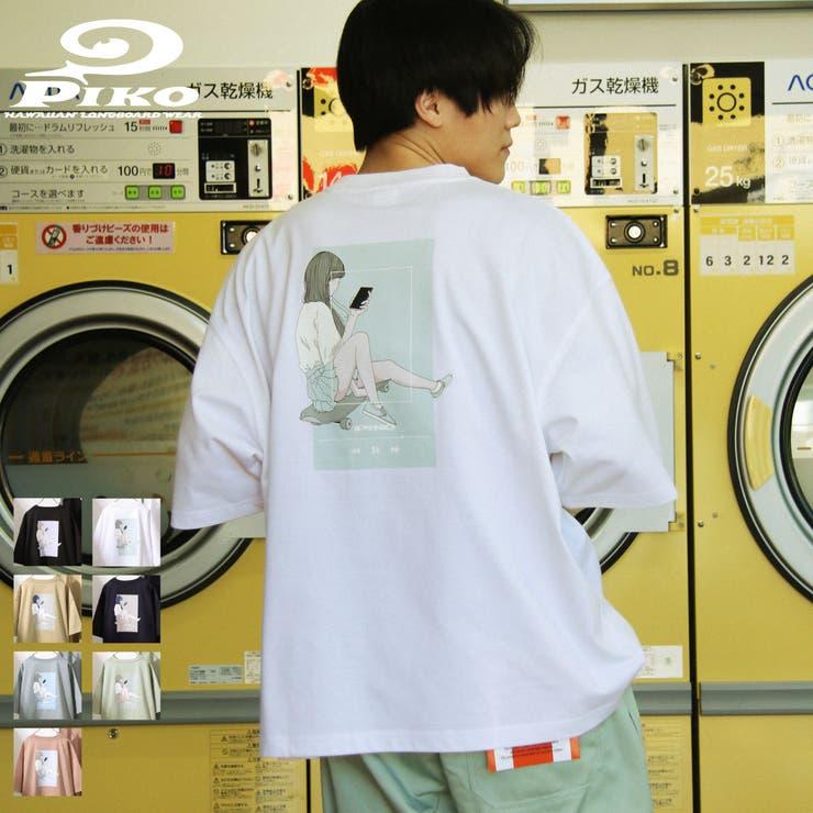 Tシャツ/メンズ/メンズファッション/カットソー/半袖/半袖Tシャツ/ビッグシルエット/バックイラスト/ユニセックス/PIKO【pkm1440】 | 詳細画像