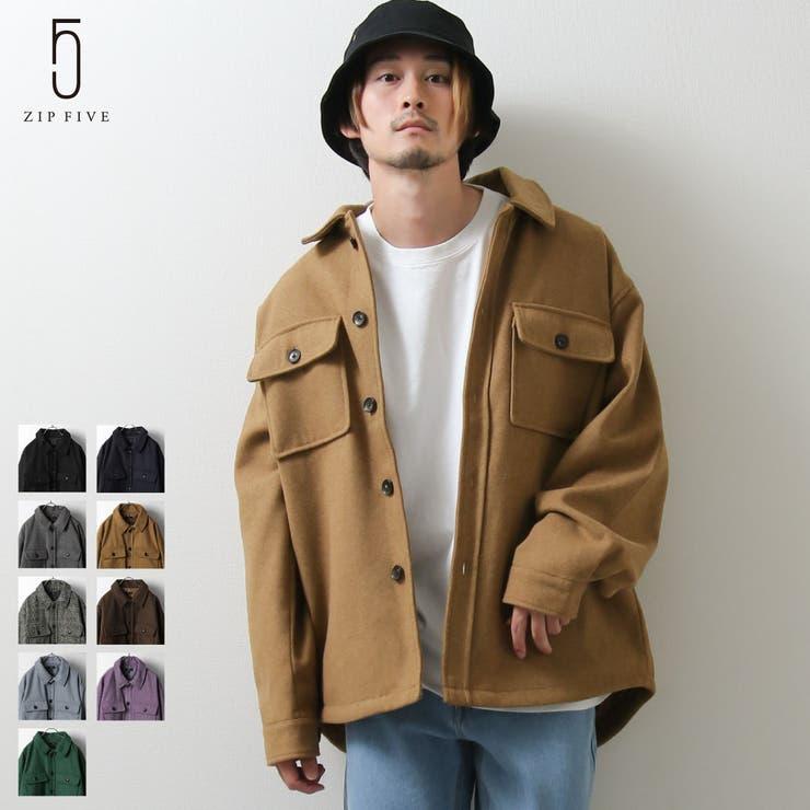 ジャケット/メンズ/メンズファッション/CPOジャケット/コート/アウター/メルトン/くすみカラー/チェック【111908bz】 | 詳細画像