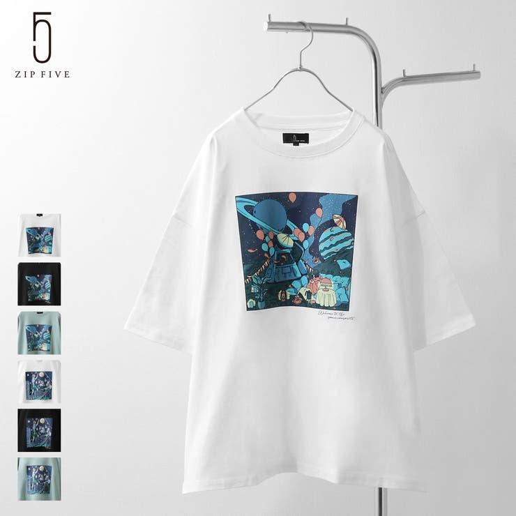Tシャツ/メンズ/メンズファッション/カットソー/半袖/半袖Tシャツ/バックイラスト/古着風【121913bz】   詳細画像