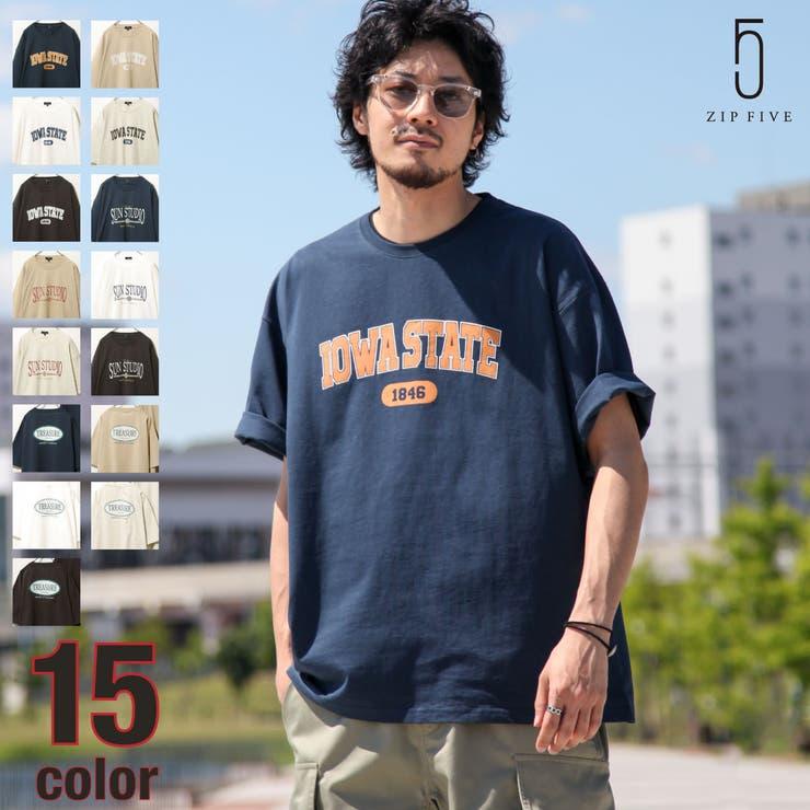 Tシャツ/メンズ/メンズファッション/カットソー/半袖/半袖Tシャツ/カレッジロゴ/アソート/ロゴプリント【21031-11gz】 | 詳細画像