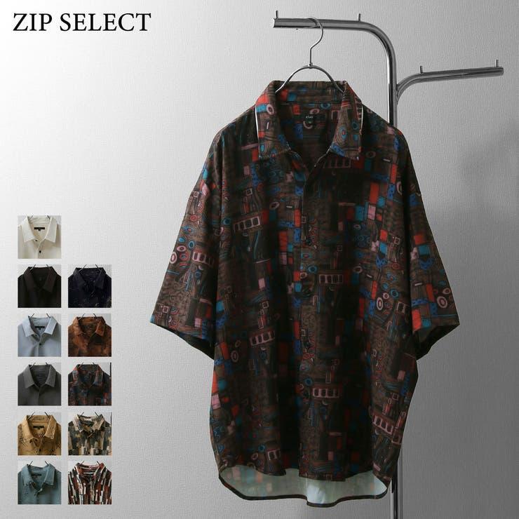 シャツ/メンズ/メンズファッション/半袖シャツ/半袖/無地/柄シャツ/レトロ/総柄【bz0001】 | 詳細画像