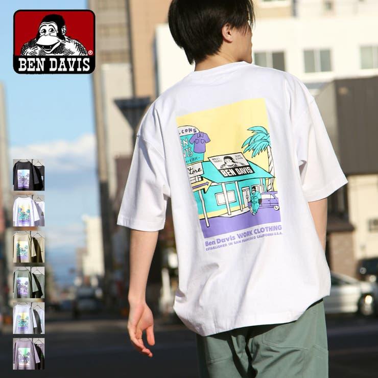 Tシャツ/メンズ/メンズファッション/カットソー/半袖/半袖Tシャツ/ビッグシルエット/イラストプリント/オーバーサイズ/ベンデイビス【c-1580906】 | 詳細画像