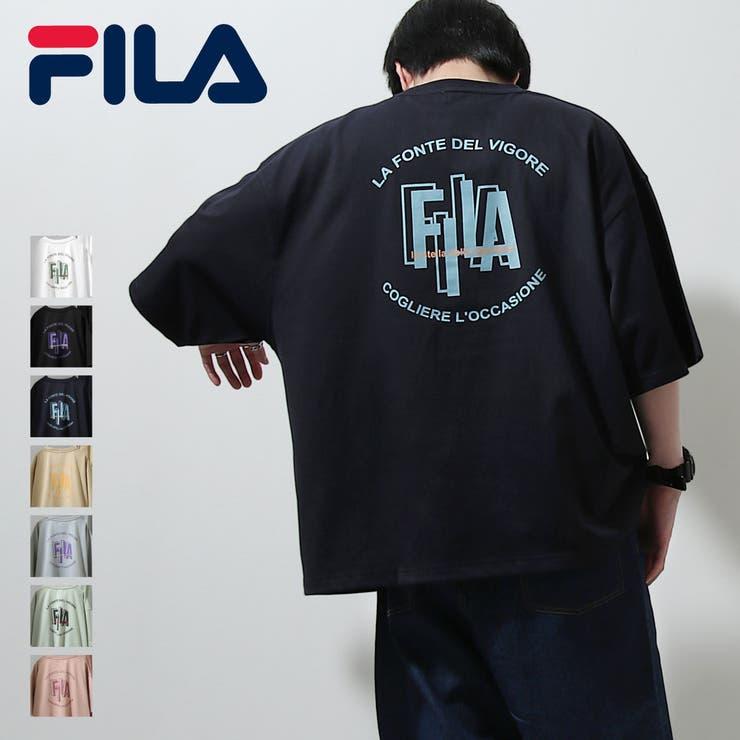 Tシャツ/メンズ/メンズファッション/カットソー/半袖/半袖Tシャツ/バックプリント/ロゴプリント/ビッグシルエット/ユニセックス/フィラ【fh7889】   詳細画像