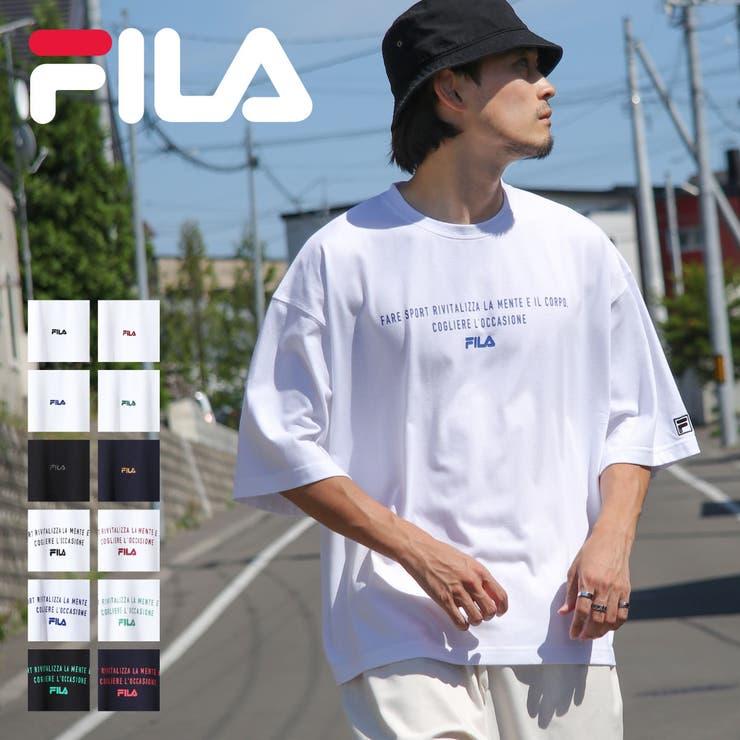 Tシャツ/メンズ/メンズファッション/半袖Tシャツ/半袖/ビッグシルエット/ロゴプリント/ロゴ刺繍/ワンポイント/フィラ【fh7905-fh7906】 | 詳細画像