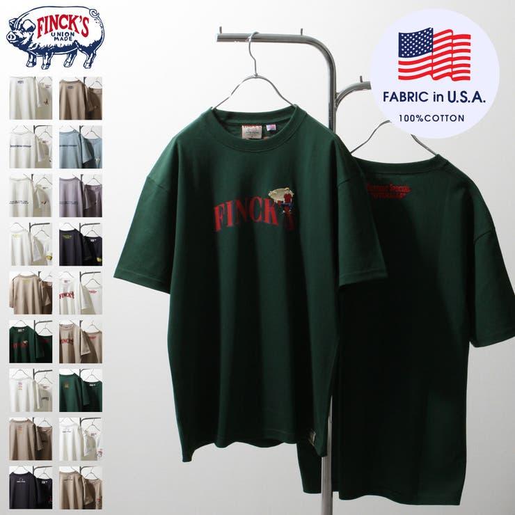 Tシャツ/メンズ/メンズファッション/カットソー/半袖/半袖Tシャツ/アソート/ロゴプリント/ロゴ刺繍/フィンクス【sk-fnk001】 | 詳細画像